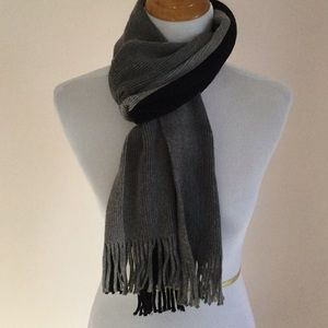 Other - Grey and black unisex scarf
